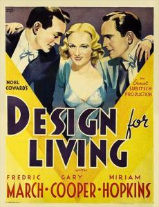 Design for Living 1933 Fredric March Gary Cooper Miriam Hopkins