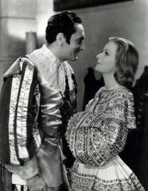 Greta Garbo and John Gilbert in Queen Christina