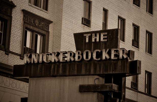 The Knickerbocker Hotel Sign