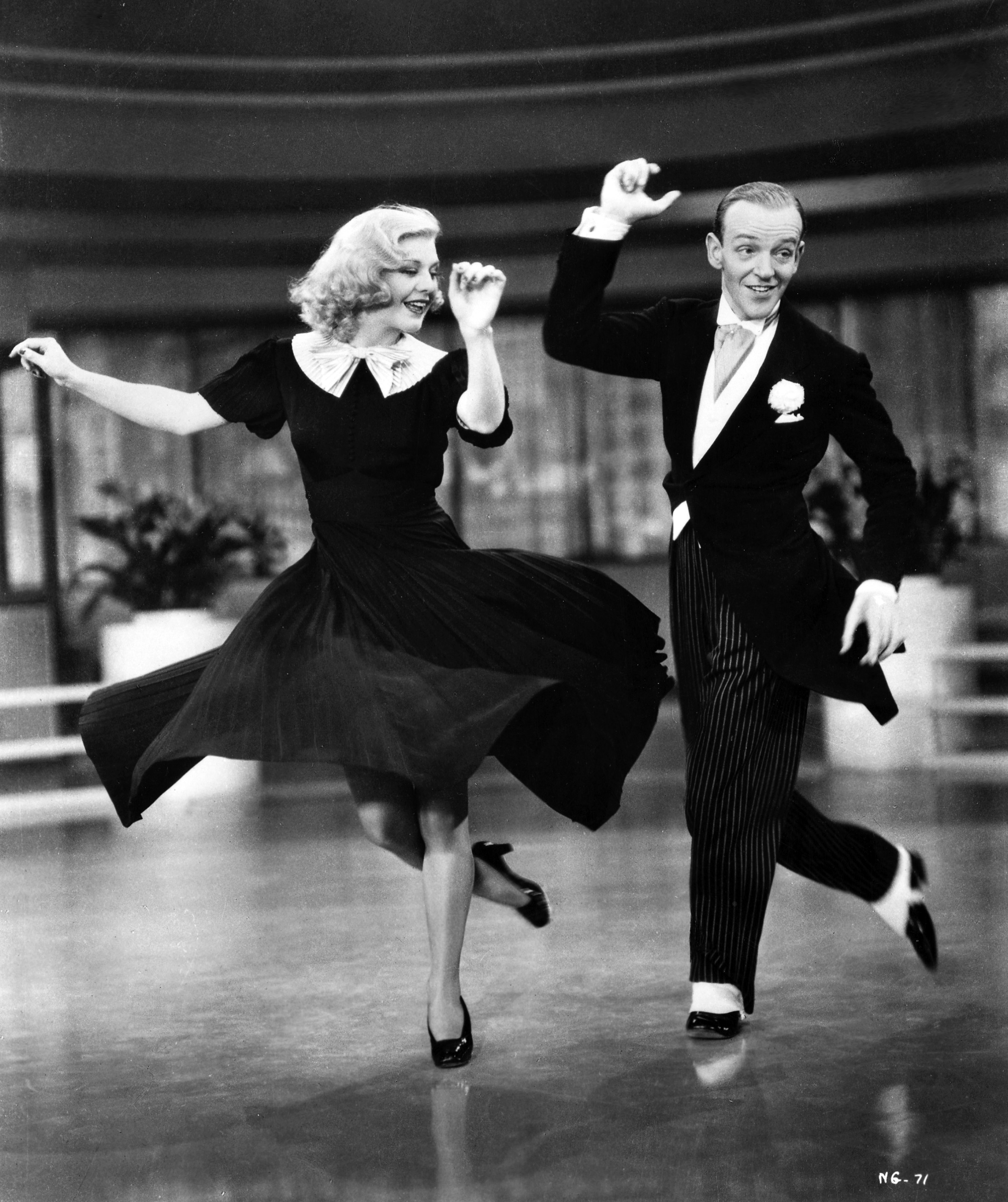 Astaire Rogers Swing Time on Foxtrot Dance Drawing