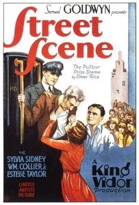 Street Scene 1931 Poster
