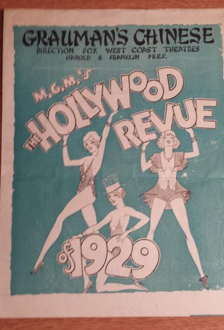 Hollywood Revue of 1929 Graumans Program