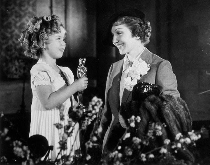 Claudette Colbert Shirley Temple Oscar