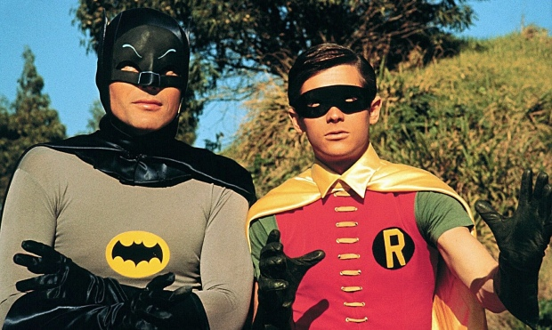 Adam West and Burt Ward in Batman.