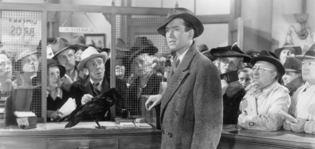 George Bailey Jimmy Stewart Bank Run Scene
