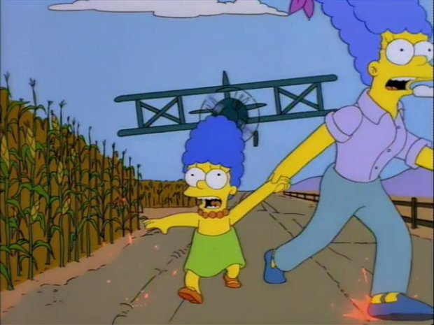 Marge Simpsons North By North West Parody
