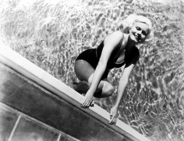 Jean Harlow Swimming