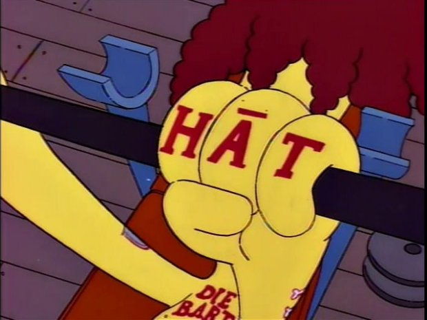 Sideshow Bob Hate Tattoo