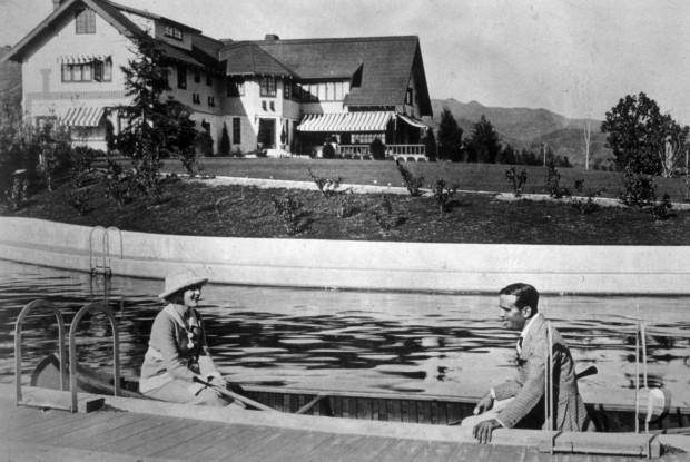 Mary Pickford and Douglas Fairbanks at Pickfair