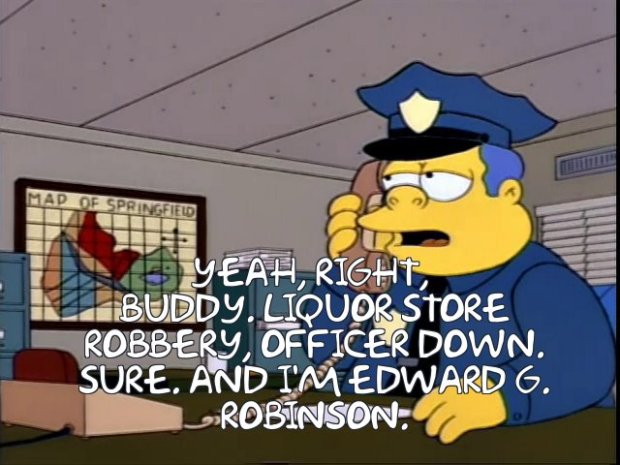 Chief Wiggum Edward G. Robinson
