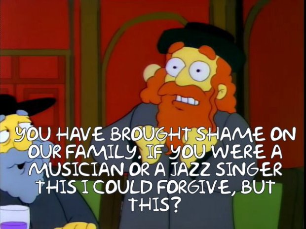 Krusty's Dad Simpsons Jazz Singer Reference