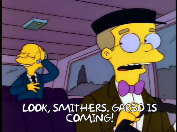 Smithers Garbo is Coming