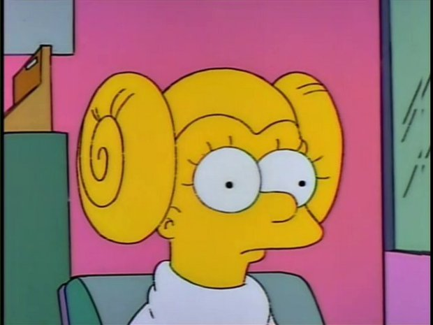 Lisa Simpson With Princess Leia Hair