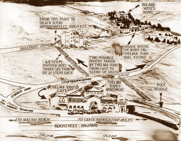 Thelma Todd Death Map