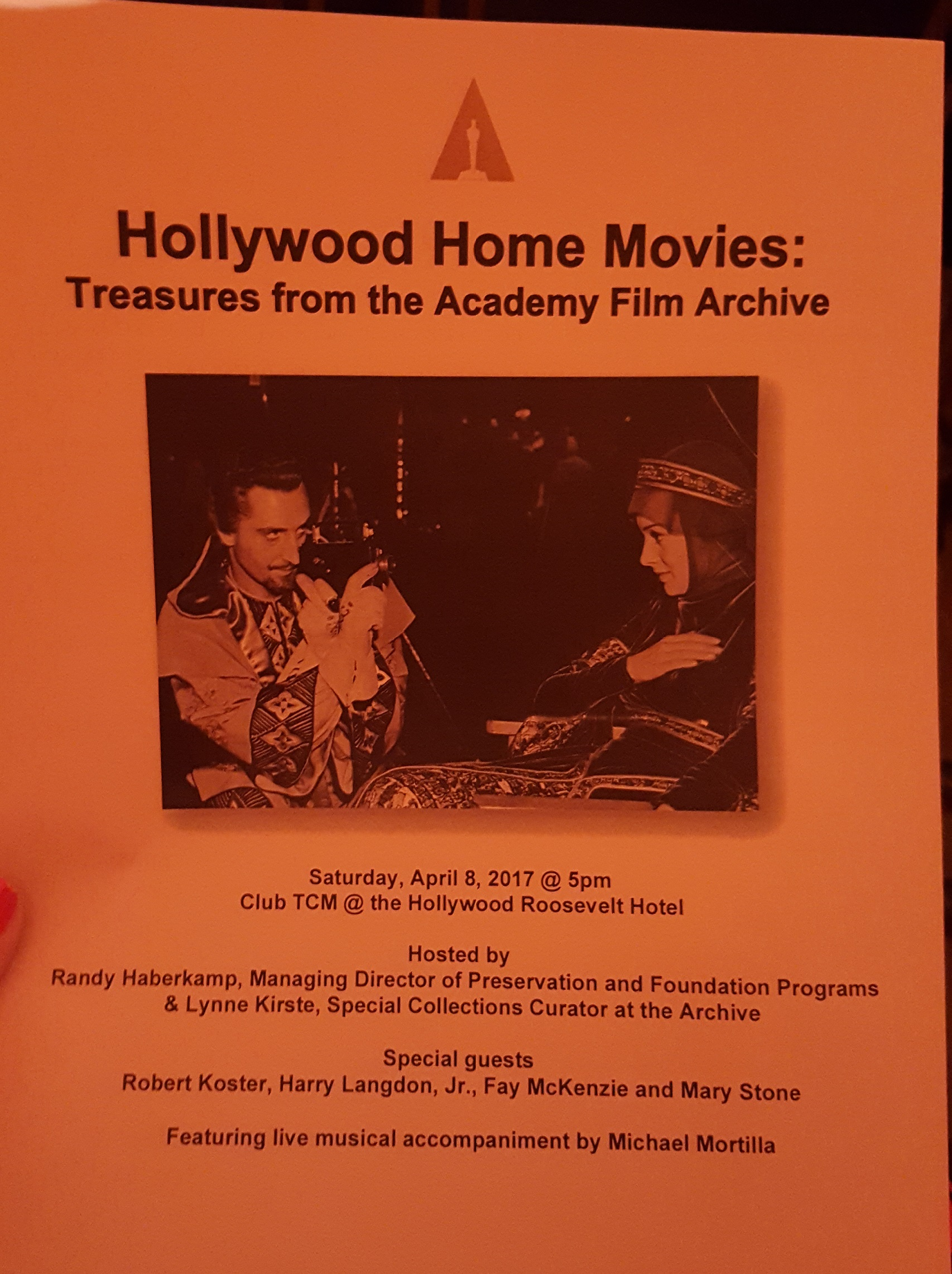 TCMFF 2017 Hollywood Home Movies