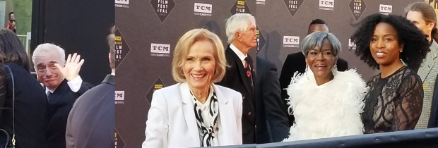 Martin Scorsese Eva Marie Saint and Cicely Tyson TCMFF 2018 Red Capret