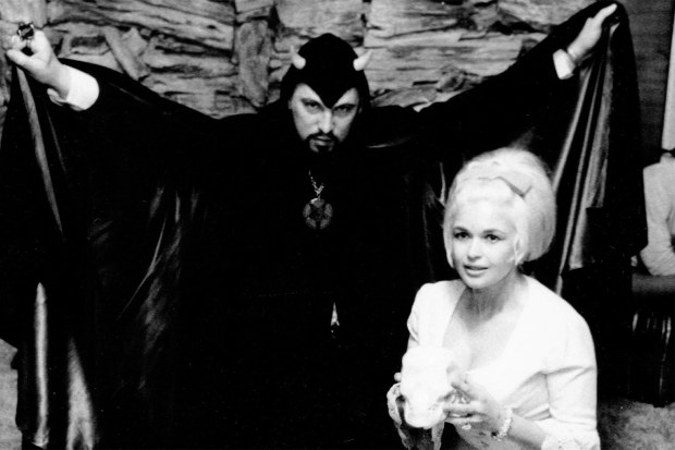 Jayne Mansfield with Anton LaVey