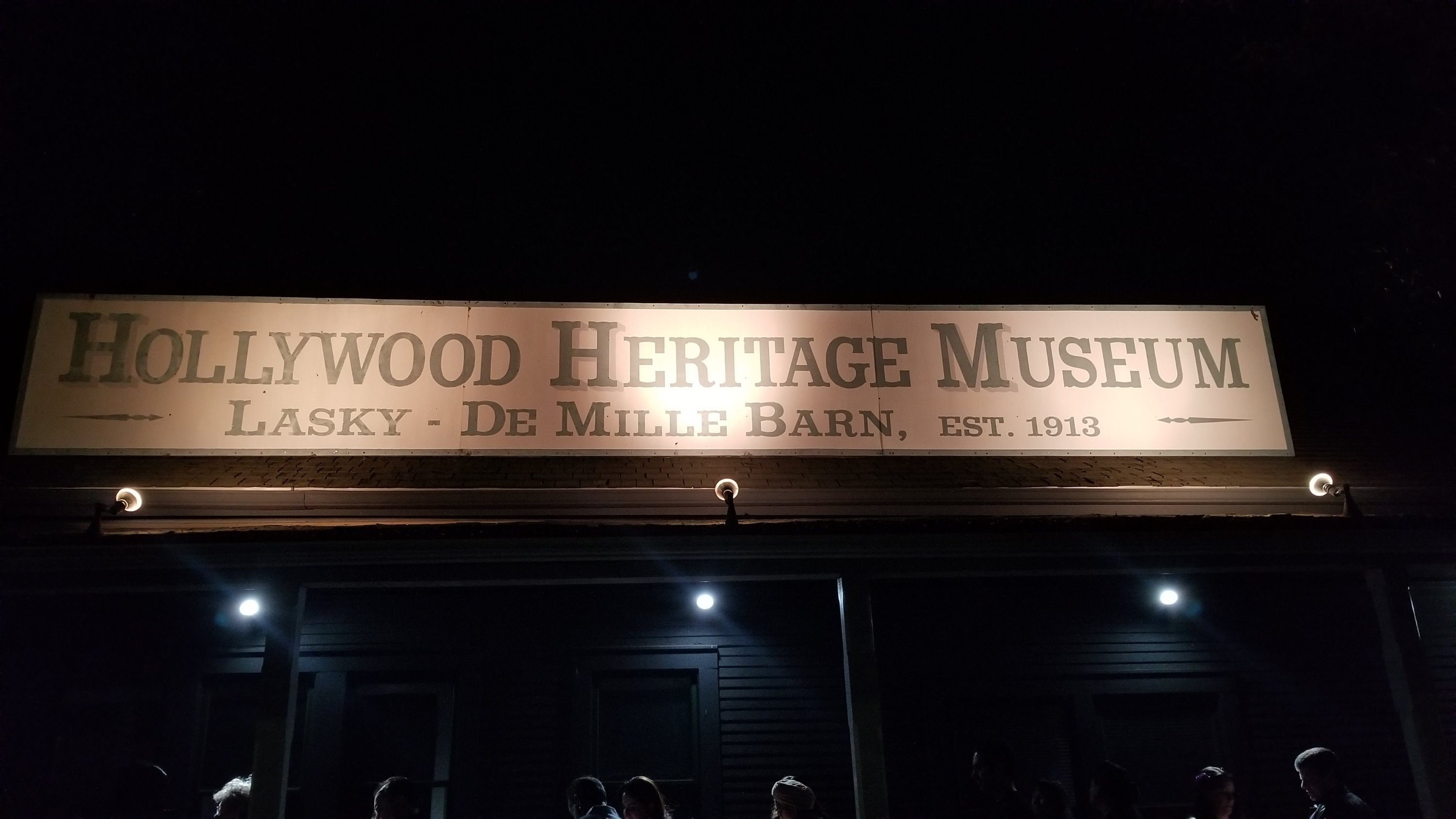 Hollywood Heritage Museum Lasky-De Mille Barn Sign At Night