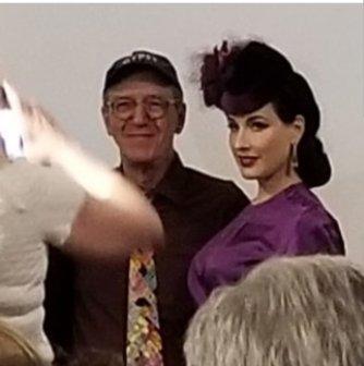 Erik Lee Preminger and Dita Von Teese at Hollywood Heritage Museum