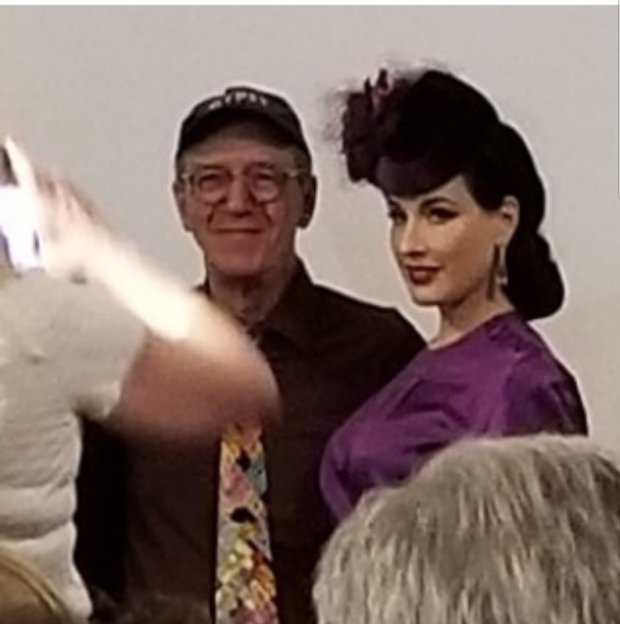 Erik Lee Preminger and Dita Von Teese at Hollywood Heritage Museum