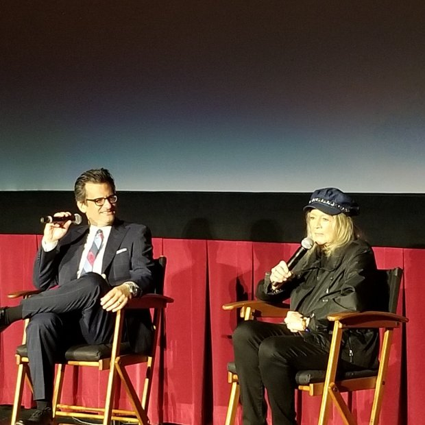 Ben Mankiewicz and Angie Dickinson TCMFF 2019 The Killers