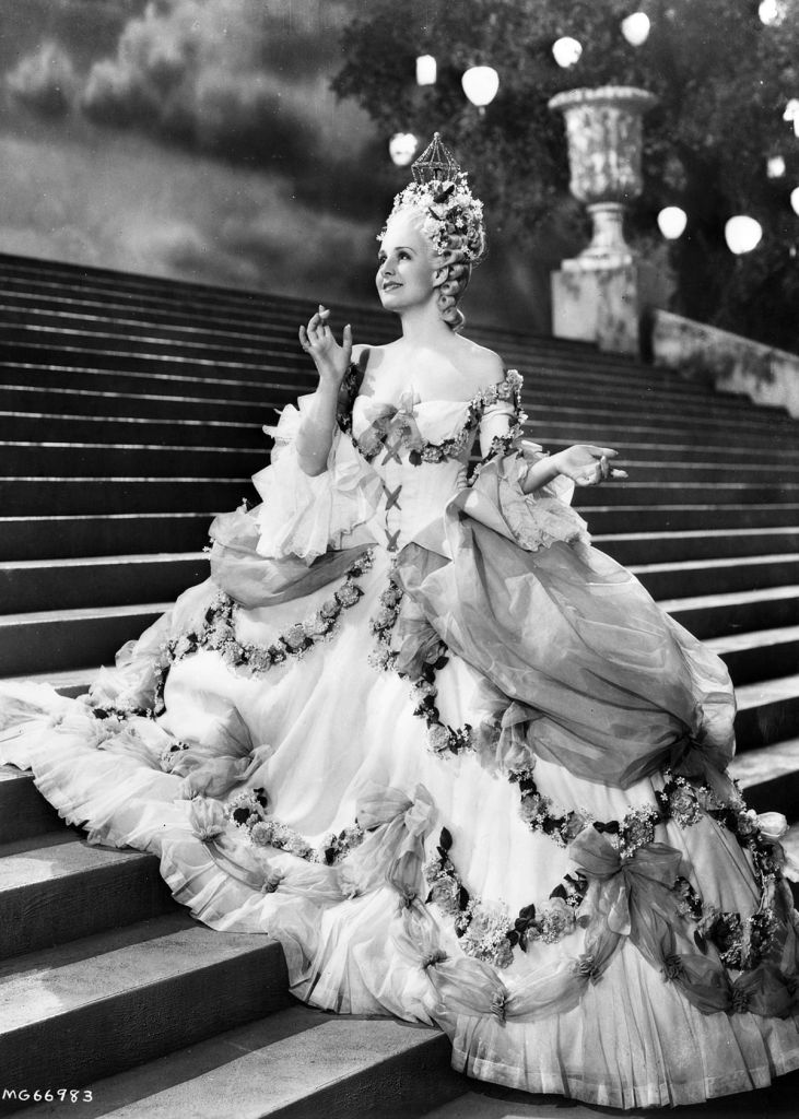 Norma Shearer in costume for Marie Antoinette