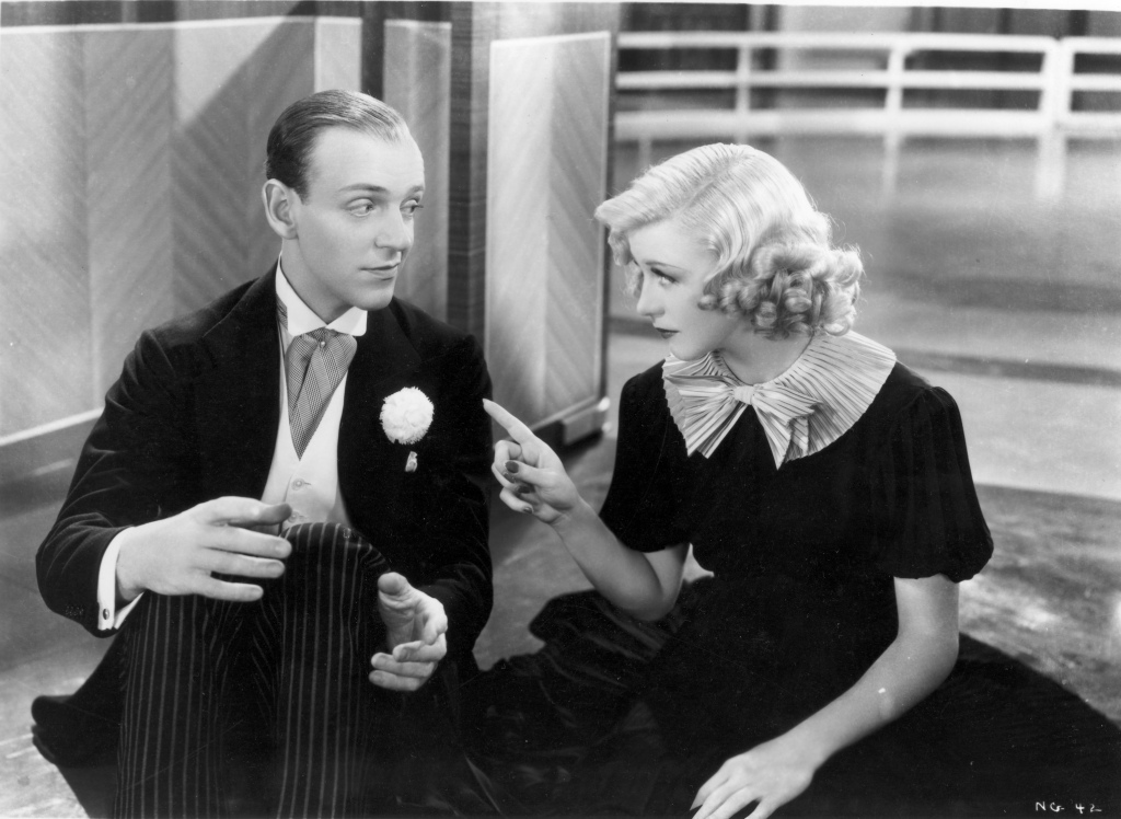 Fred Astaire and Ginger Rogers in Swing Time.
