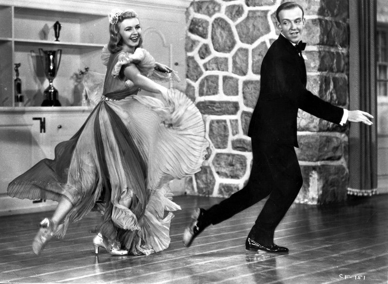 Fred Astaire and Ginger Rogers in Carefree.