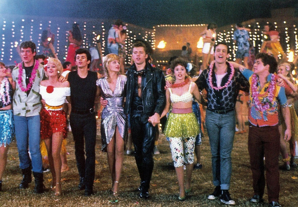The cast of Grease 2.