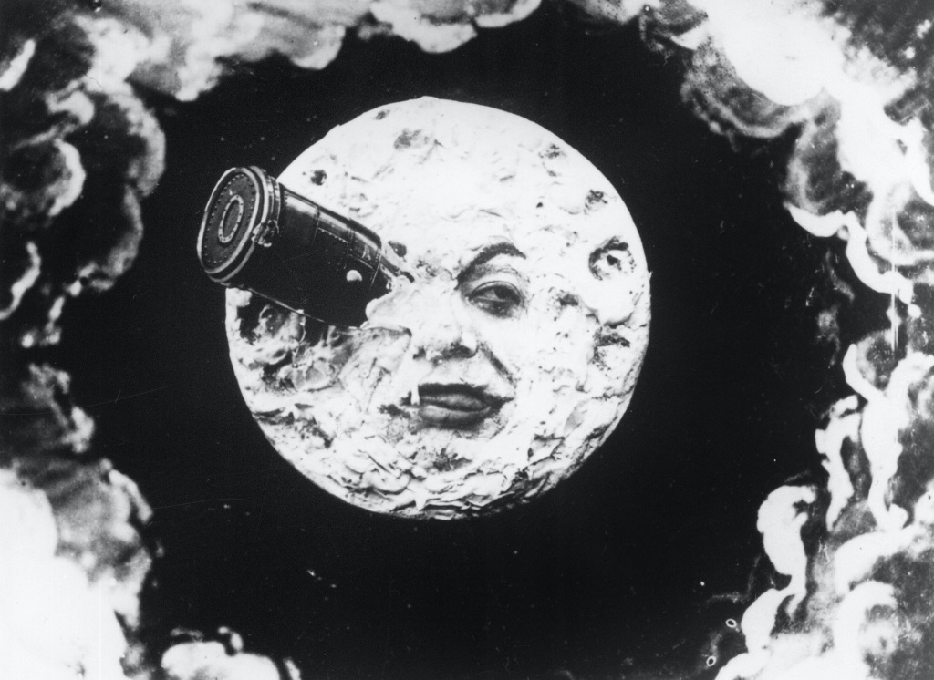 The moon as shown in A Trip to the Moon by George Melies.