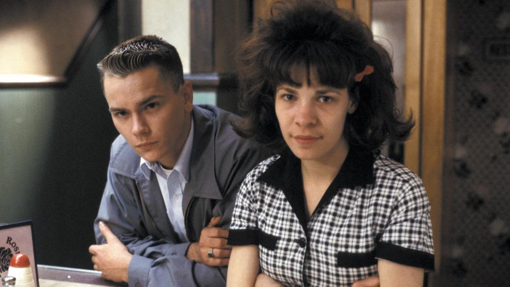River Phoenix and Lili Taylor in Dogfight.