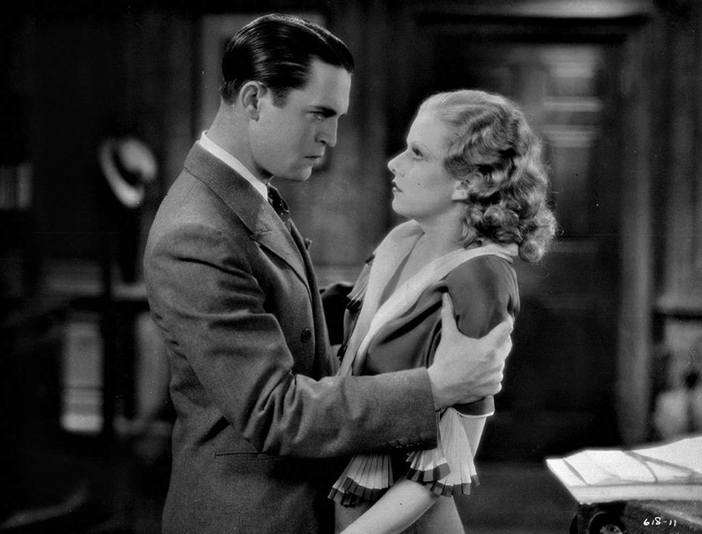 Chester Morris and Jean Harlow in Red-Headed Woman.