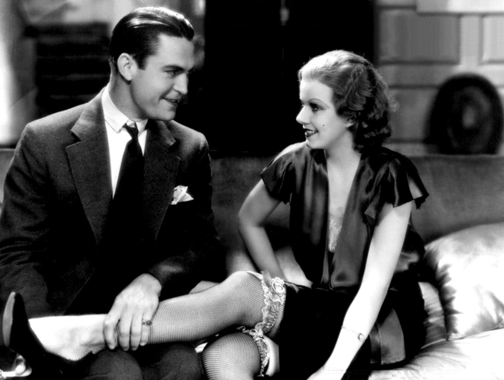 Jean Harlow and Chester Morris in Red-Headed Woman.