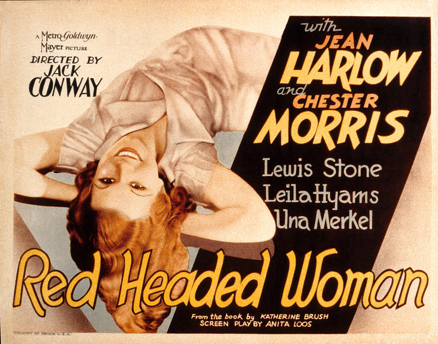 Movie poster for the 1932 movie Red-Headed Woman.