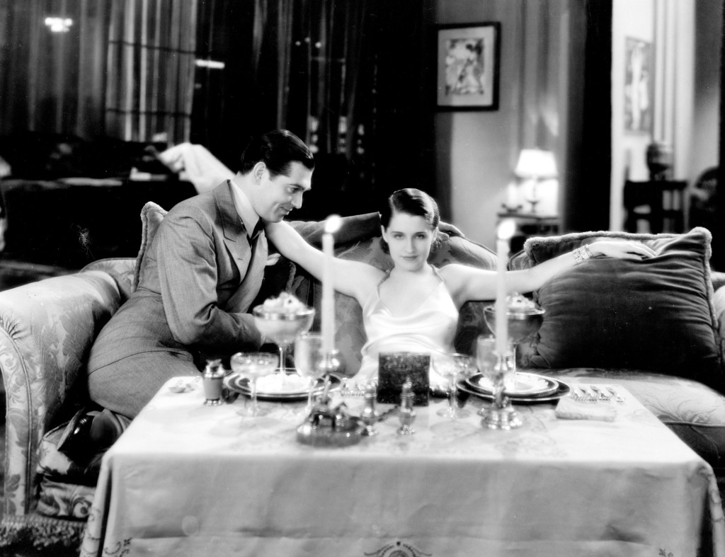 Clark Gable and Norma Shearer in A Free Soul.