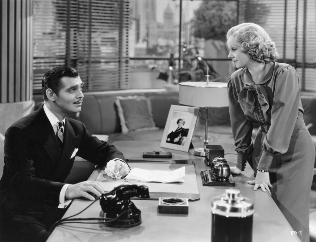 Clark Gable and Jean Harlow in Wife vs. Secretary.