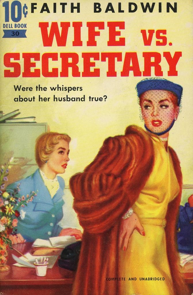 Wife vs. Secretary pulp book cover.