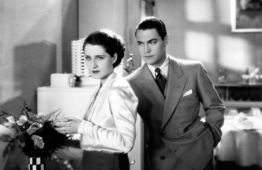 Chester Morris and Norma Shearer in The Divorcee.